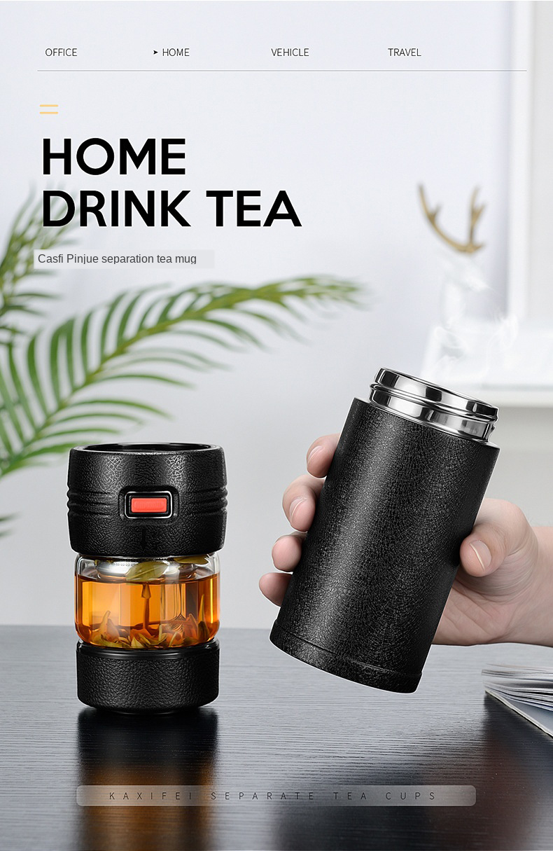 inoxidável thermocup chá frascos de vácuo presente