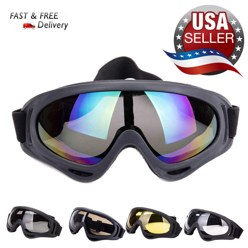 Windproof Snowmobile Ski Snow Goggles Anti-Fog Winter Outdoor Sports Skiing Snowboard Eyewear With Adjustable Straps