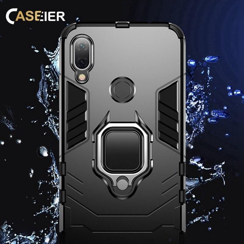 Image 2 - CASEIER Armor Shockproof Case For Xiaomi Redmi Note 7 5 8 6 Pro 4 4X 6A Finger Ring Holder Case For Xiaomi A2 MAX 3 8 9 SE Case