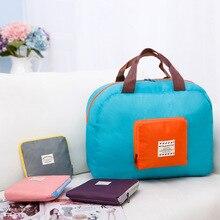 Duffel bag aircraft bag Korean one-shoulder storage bag nylon waterproof portable travel bag large capacity luggage bag