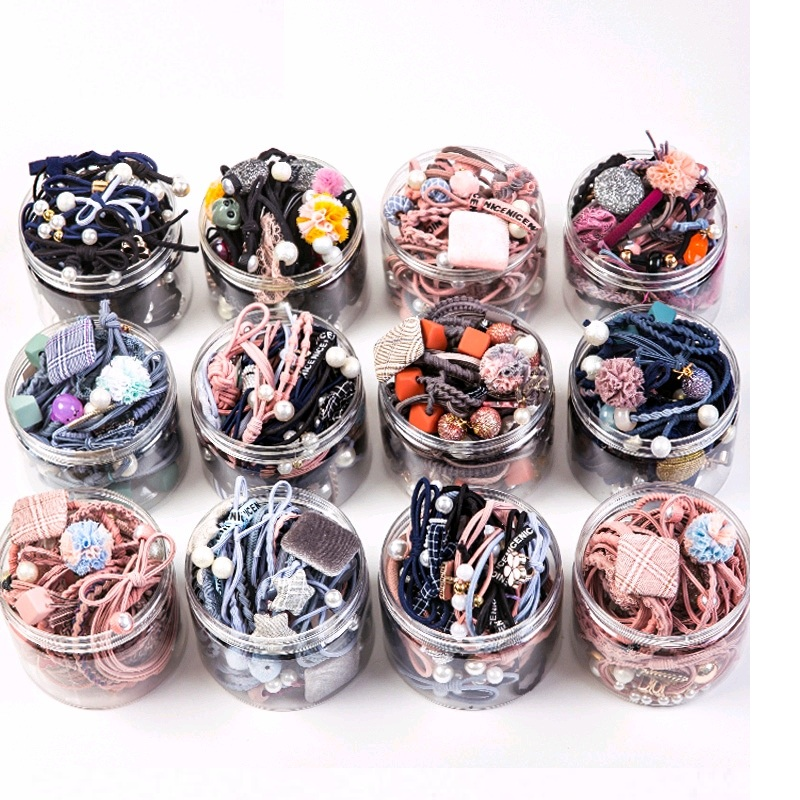 25PC Pure And Fresh Sweet Starry Sky Series Maiden Elastic Hair Bands Ribbon Flowers Pentagram Rabbit Ears Hair Clips