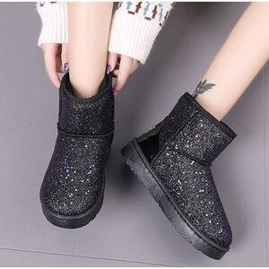 Women Snow Boots Glitter Woman