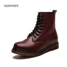 2019 New Brand Leather Ankle Boots Autumn Winter Men's Boots Fashion Motorcycle Boots Outdoor Working Snow Boots Men Shoes(China)