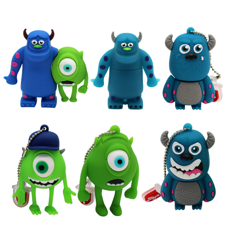 BiNFUL Cartoon USB Flash Drive 32GB Pen Drive 16GB 8GB 4G Cartoon Monsters University Creative U Disk