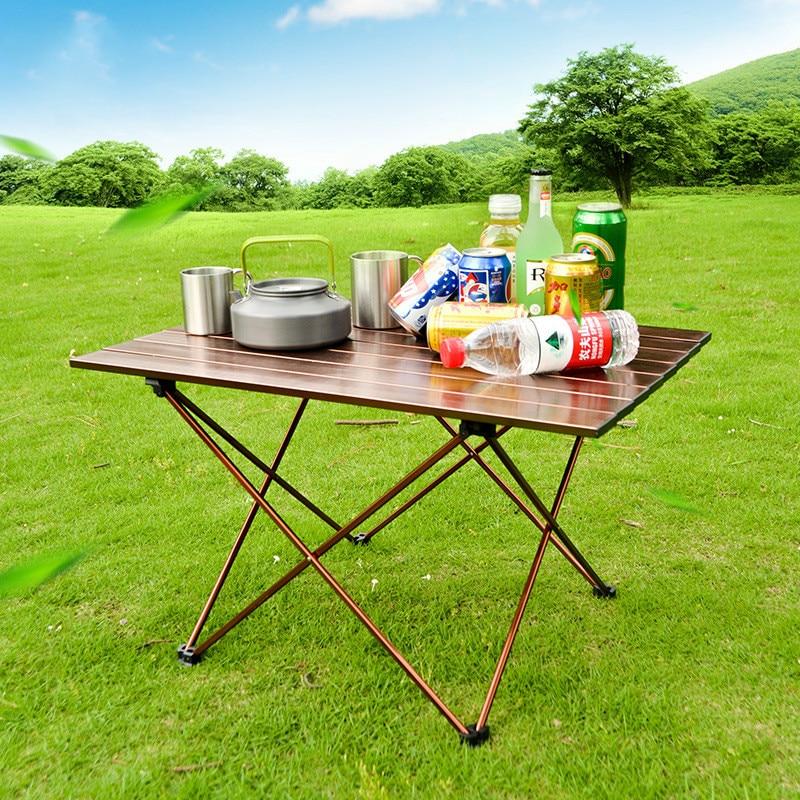 Outdoor Camping Aluminum Alloy Folding Table Barbecue Desk Portable Desktop Picnic Table Foldable Garden Patio Furniture Game