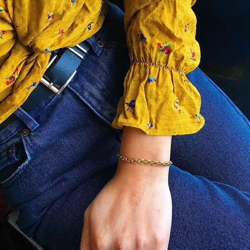 HebeDeer  creative bracelet ladies chain bracelets european women Tassel Yellow Gold color fashion Jewelry Trendy Alloy pulseras