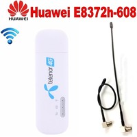 Unlocked Huawei E8372 E8372h 608 4G LTE 150Mbps USB Modem and Antenna USB WiFi Dongle 4G Carfi Modem Support 10 Wifi Users
