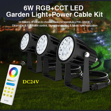 new arrive 6W RGB+CCT LED Garden Light+Power+Cable+2.4GHz wi