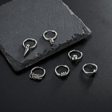 1 Pair of Earrings Fashion Jewelry 2021 Men's Round Earrings Korean Stainless Steel Jewelry Jewelry Friendship Gift Accessories