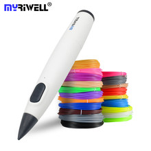 Myriwell 3d caneta de baixa temperatura 3d impressão caneta com filamento pcl criativo brinquedo presente aniversário para crianças desenho