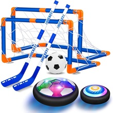 A Set 2in1 Hover Soccer Kids Set USB Rechargeable and Battery Floating Air Football Led Light Indoor Outdoor Games Sport Toys