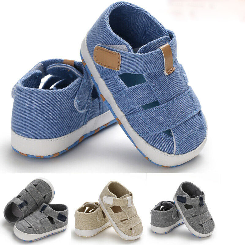New Fashion Baby Sandals Toddler Infant Hollow Soft Crib Sole Canvas Shoes Little Boys Kids Prewalker First Sandals Clogs