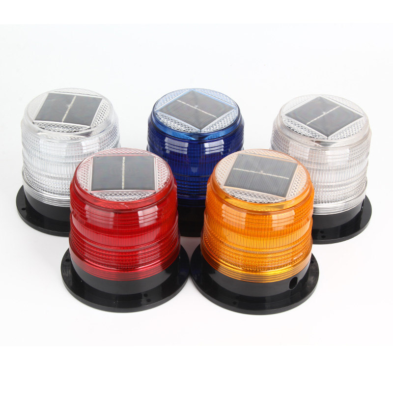 Solar Warning Strobe Light Mini Strobe Warning Light Led Traffic And Road Beacon Light Strong Magnetic Red Wihte Blue Orange
