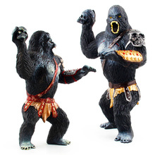 King Kong chimpanzee solid animal model simulation creature hand doll decoration toy collection artwork for fans or children