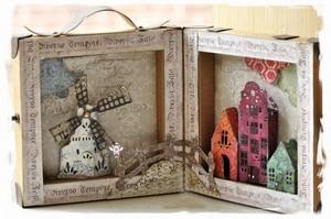 Image 2 - Piggy Craft do cięcia metalu umiera cięcia formy zamek wiatrak dom papier do notatnika craft nóż formy ostrze wykrojniki szablony umiera
