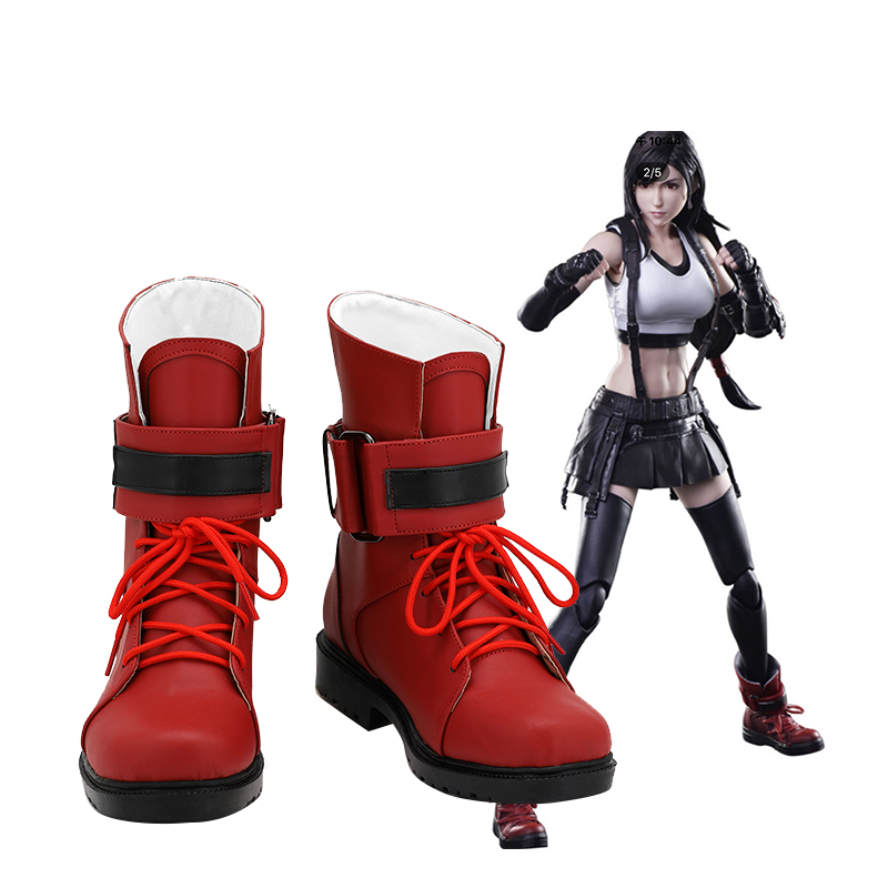 Final Fantasy Cosplay Tifa Lockhart Shoes Costume Prop Boots Halloween Carnival Party Shoes Custom Made