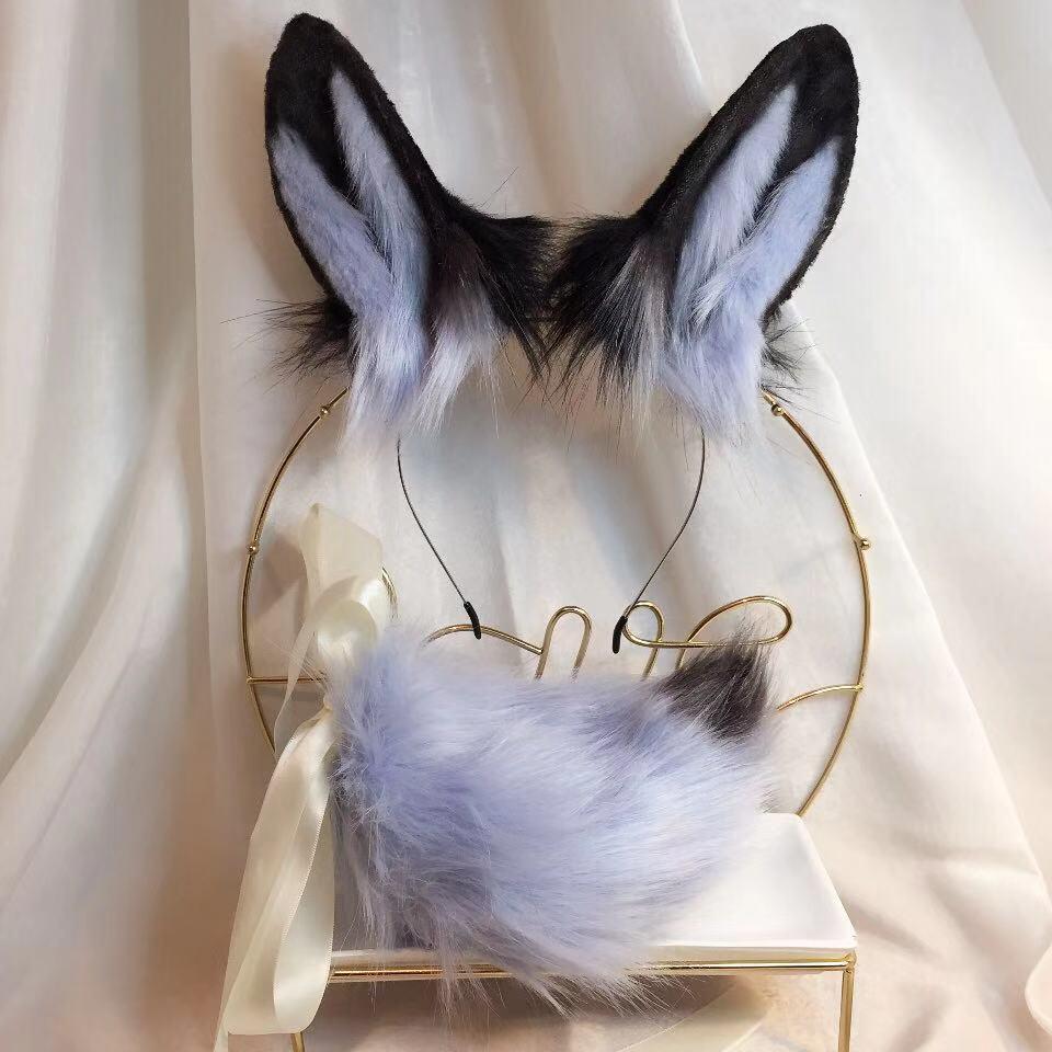 New Blue Rabbit Anime Beast Ear Beast Tail Wolf Ear Cat Ear Fox Ear Headband Custom COSPLAY