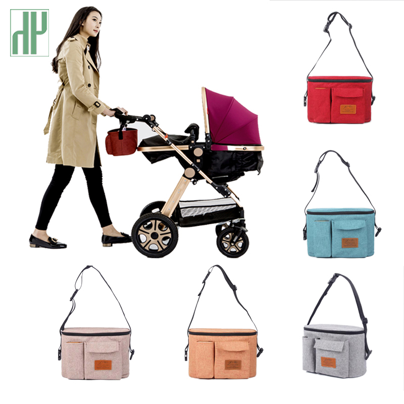 Diaper Bag Baby Stroller Organizer Hanging Nappy Bag Mummy Maternity Bag Travel Backpack Pram Buggy Cart Insulation Bottle Bag
