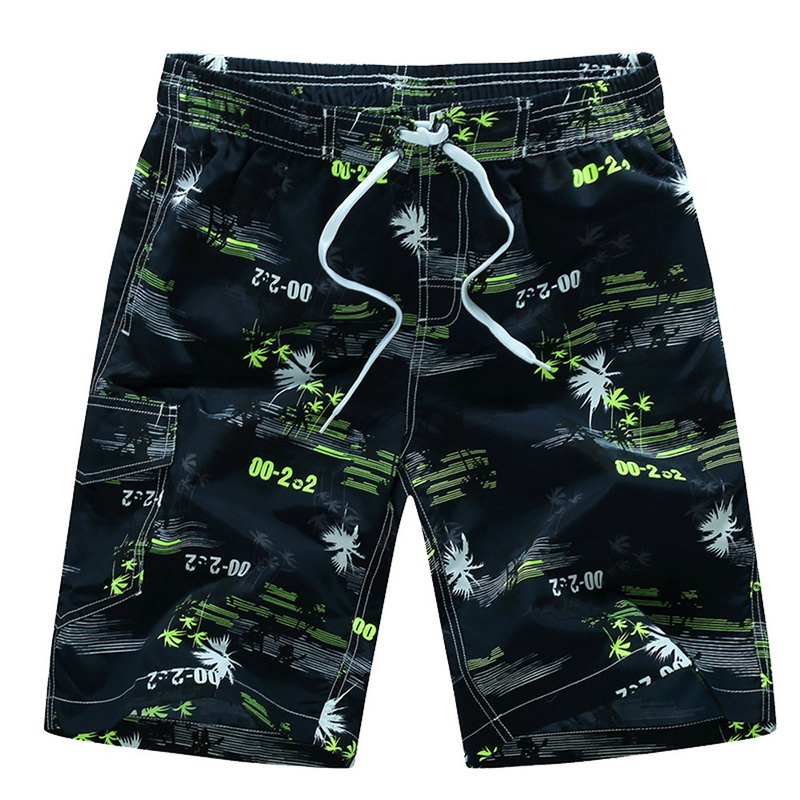 Dihope 2020 Summer Mens Shorts Fashion Sport Shorts Print Casual Knee Length Quick-Drying Floral Beach Pants Plus Size 6XL