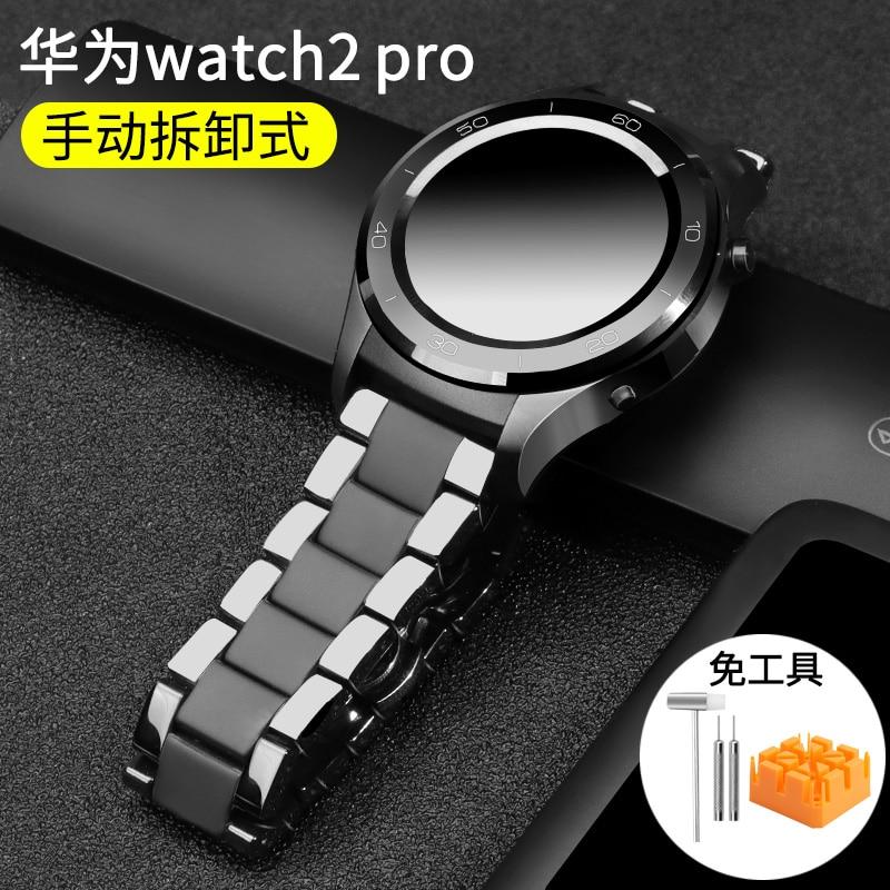 Image 2 - 20 22 мм керамический ремешок для часов huawei watch GT 2 2E /HONOR Magic WATCH 2 сменный ремешок для Samsung Galaxy 46 мм 42 ммРемешки для часов   -