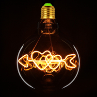 TIANFAN Edison Bulbs G125 Love Cupid's Arrow Globe Led Bulb Vintage Filament 4W Decorative Pendant Table Lamp Light Bulb
