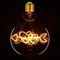 TIANFAN Edison Bulbs G125 Love Cupid's Arrow Globe Led Bulb Vintage Filament 4W Decorative Pendant Table Lamp Light Bulb