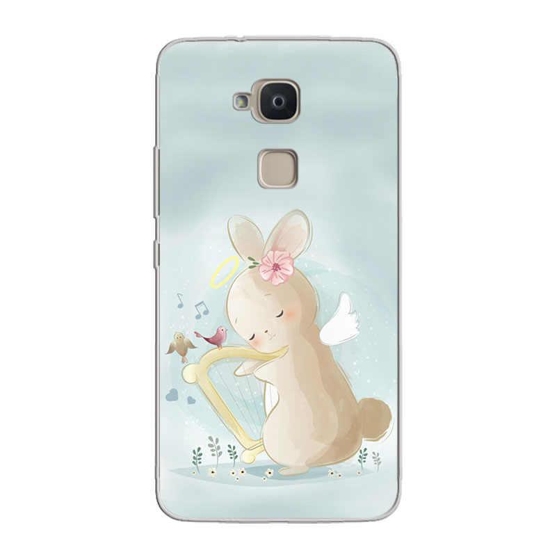Ciciber Bq Aquaris × U2 C U X5 V VS X2 M プラス Lite プロソフト TPU 電話ケース bq M5 E5s M5.5 E4.5 M4.5 ウサギ Coque