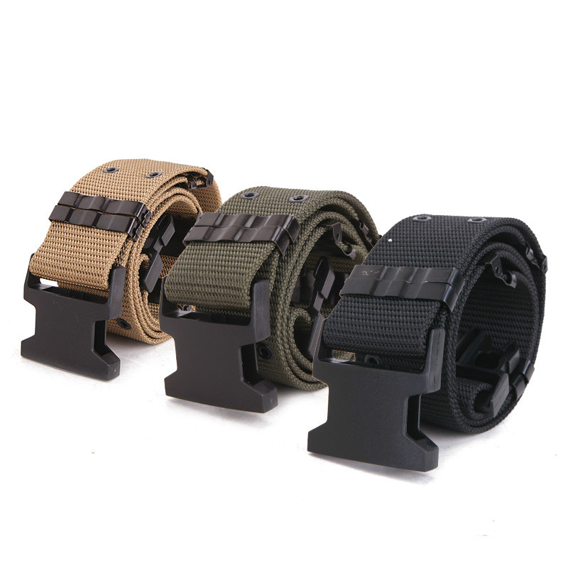 New Quick Release Tactical Belts Men Military Army Waist Belt Men Outdoor Sports Hunting Canvas Waistband Strap For Pants 130cm