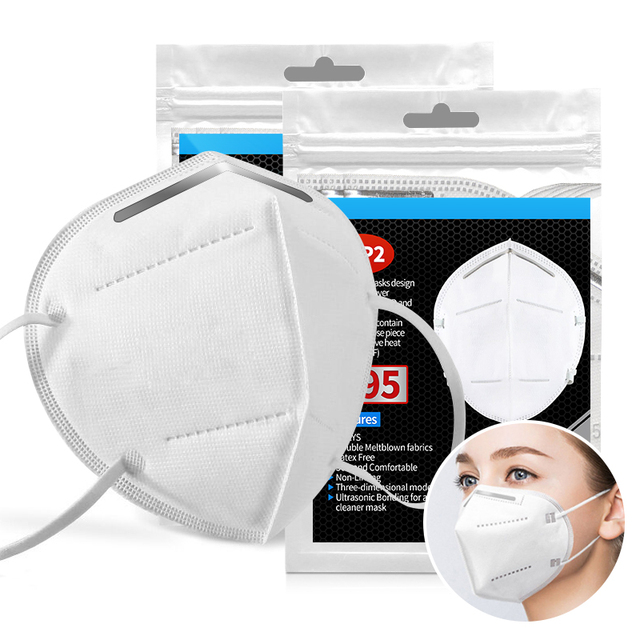 200pcs Mask mouth male and female protective masks dust-proof Mouth Mask Anti-fog Breathable 6 Layers Face Masks 95% Filtration