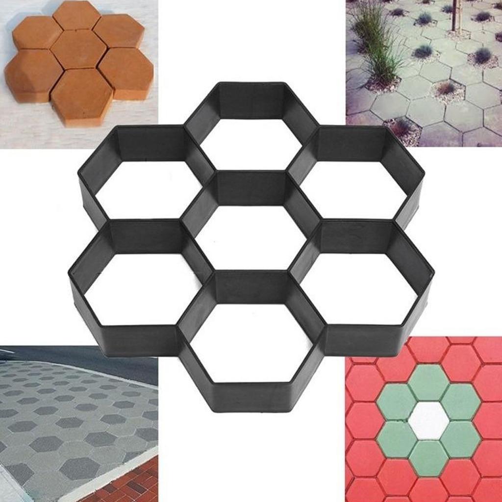 Plastic DIY Garden Lawn Floor Paving Mold Patio Concrete Path Maker Mould