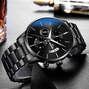 Image 2 - SAUSEN Uhr Männer 2020 Wasserdichte Edelstahl Mode Sport Quarzuhr Uhr männer Uhren Top marke Luxus Mann Armbanduhr