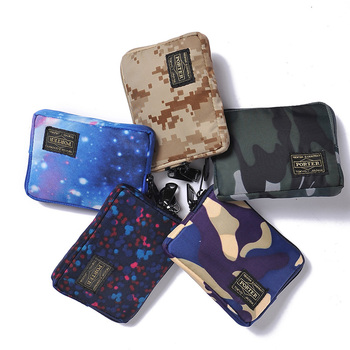 2020  Japanese and Korean Brand Men Wallet Nylon Cloth Short Female Handbag Phone Bags Casual Student Wallets Youth Purse
