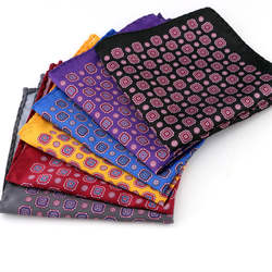 Роскошный мужской квадратный носовой платок с цветочным узором, Классический платок для свадебной вечеринки, мягкие шелковые винтажные