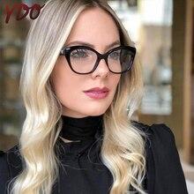 YDO New Vintage Cat Eye Glasses Frame Women Brand Designer Spectacle Myopia Eyeglasses  Prescription Eyewear Optical