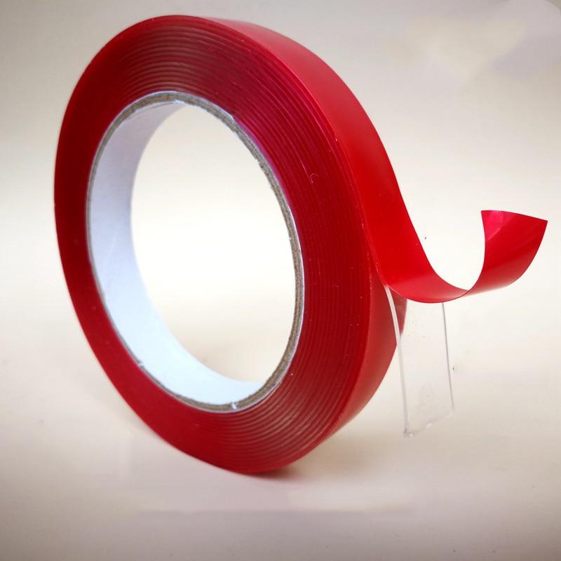 5M Transparent Magic Acrylic Tape Washable Reusable Double-Sided Tape Adhesive Nano Traceless Sticker Stationery