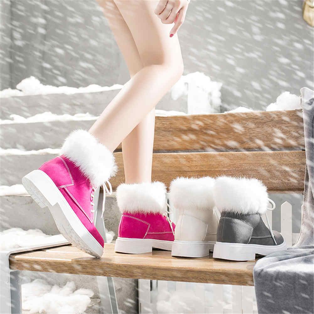 Doratasia INS marka en kaliteli 8 renk sıcak kış kürk kar botları kadın ayakkabısı kadın yarım çizmeler matrin moda ayakkabılar kadınlar