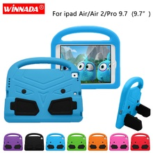 For ipad Air 2 Case for pro 9.7 Kids cute Tablet Protecter cover shock proof EVA foam Hand-held Stand Cover