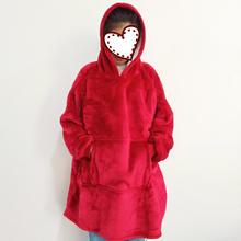 Winter Women Hoodie Sweatshirt Warm Pocket Blankets Outdoor Long Hoody For Women Coat Plush Oversized Sweatshirt Casaco Feminino