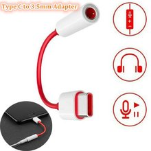 Typ C do 3.5mm adapter gniazda jack dla Oneplus 7 Pro 6t AUX rozdzielacz audio Tupe-C Adaptateur dla honoru 20 Pro adapter Fone De Ouvido(China)