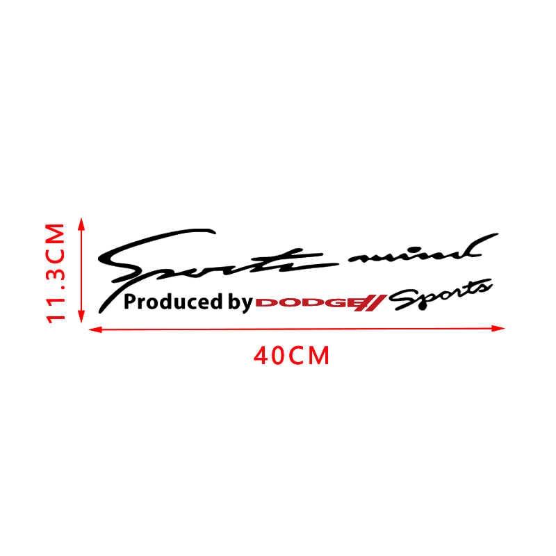 ملصقات بتصميم سيارات السباق الرياضية من الفينيل ملصق حاجب عاكس للضوء لسيارات دودج دورانجو Hellcat شاحن جراند رام فايبر