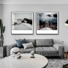 Chinese Style Zen Ink Painting Jiang nan Landscape Canvas Painting Art Wall Picture For Living Room Black White Posters Print(China)