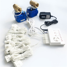 """Hidaka WLD 806 (DN15 * 2Pc) water Leak Detector Alarm Sensor Eu Plug 1/2 """"Bsp Npt Smart Home Auto Afsluitklep Voor Rusland Oekraïne"""