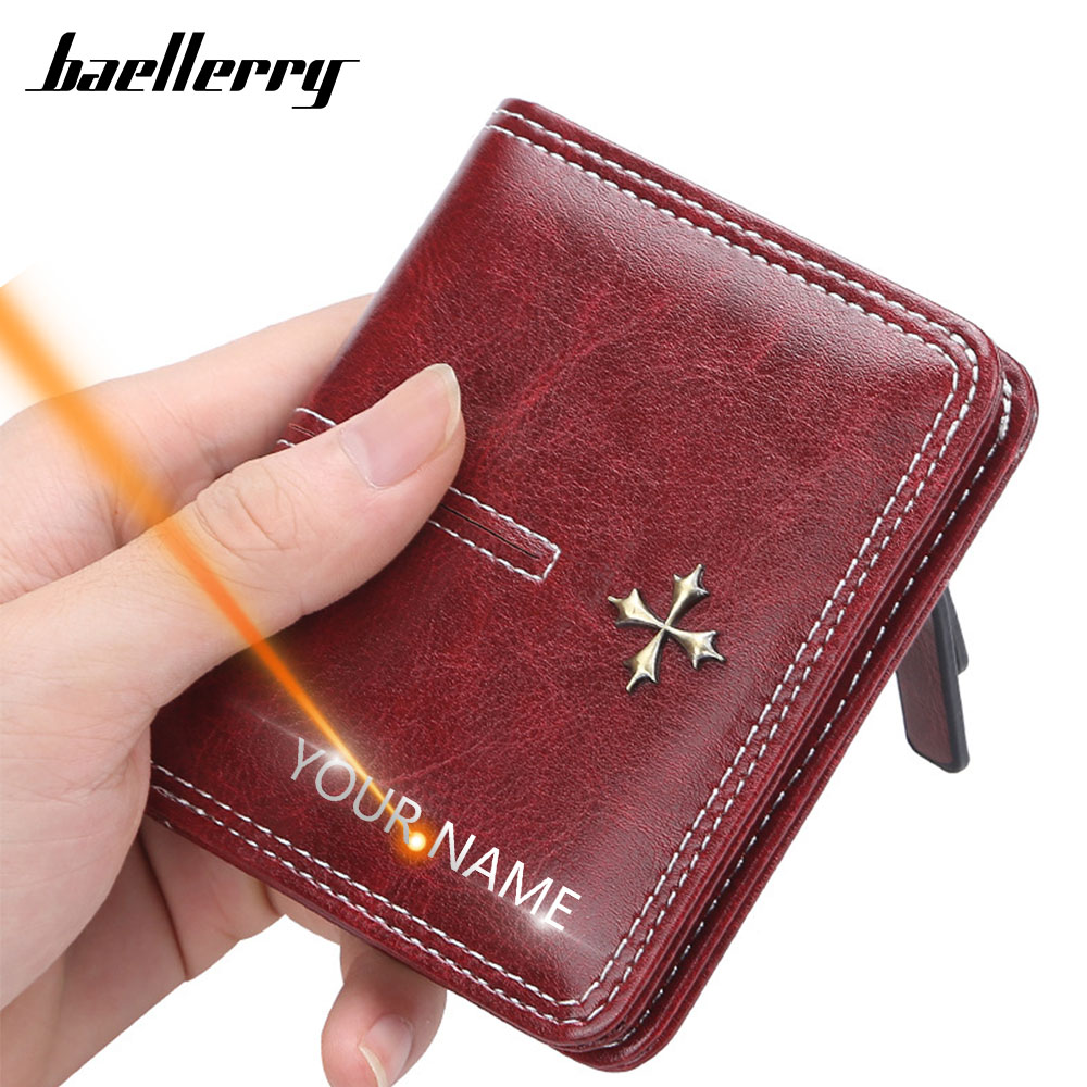 2020 Slim Women Wallets Name Engraving Mini Card Holder PU Leather Short Desigh Female Purse Fashion Coin Holder Women Wallets