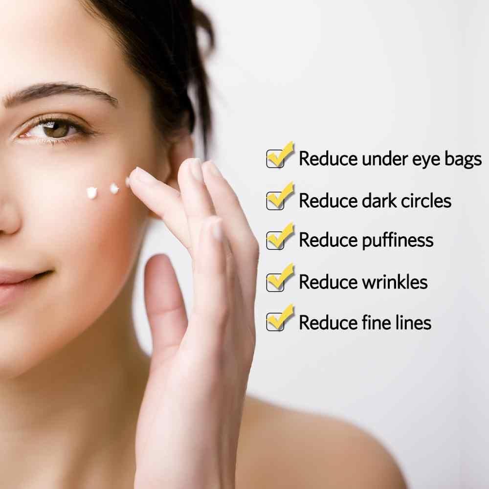 Lagunamoon crema hidratante antiedad para ojos Crema para arrugas cuidado de ojos 30G removedor de ojeras contra hinchazón y bolsa