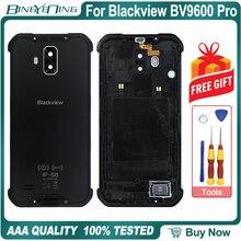 100% 새 원본 배터리 케이스 커버 백 하우징 Blackview BV9600 Pro 시끄러운 스피커 NFC 무선 충전 렌즈 유리