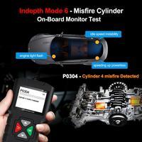 YA-201 Full OBD2 scanner OBDII Engine Code Reader Car Diagnostic Tool Multilingual Free Update Multi-language