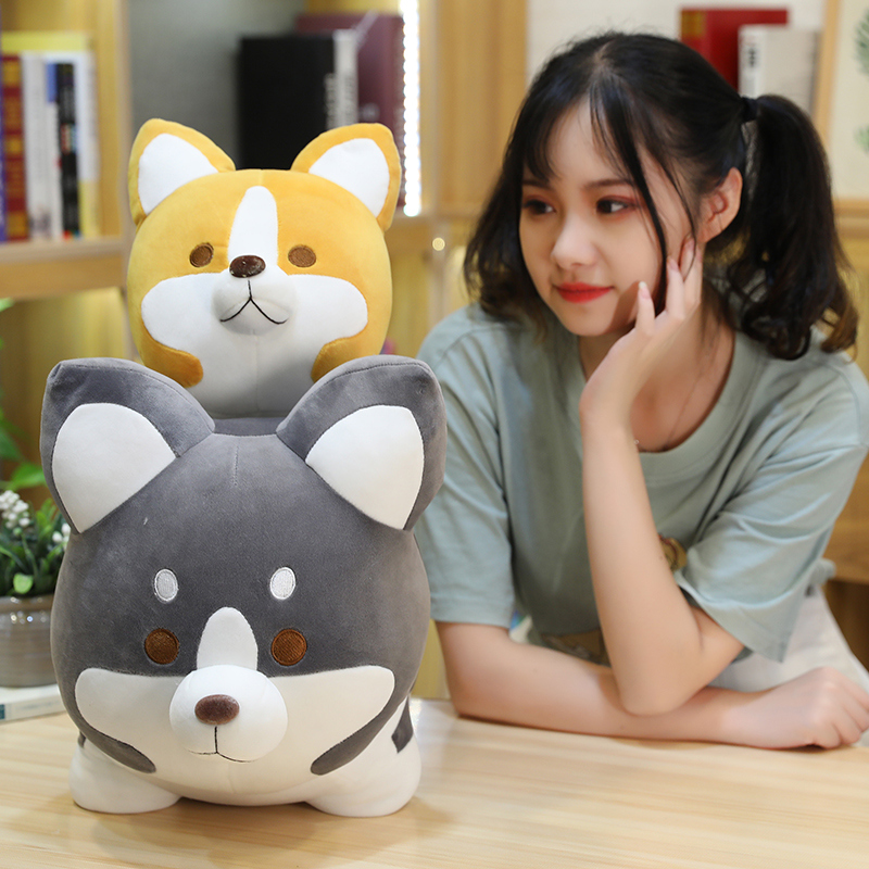 25/35/45cm Cute Shiba Inu Dog Plush Toy Stuffed Soft Animal Cartoon Pillow Lovely Christmas Gift for Kids Valentine Present