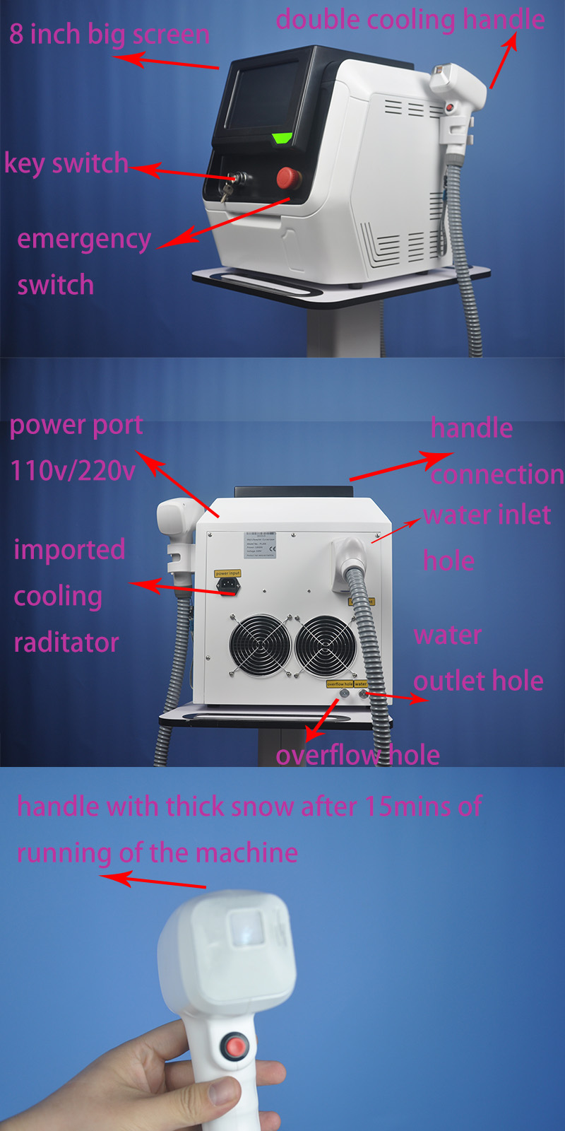 Laser do diodo 2021 755 1064nm do