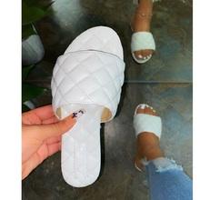 Sandały damskie letnie obuwie plażowe damskie kapcie damskie buty damskie damskie sandały damskie obuwie sandały na platformie tanie tanio KUIDFAR CN (pochodzenie) Mieszkanie (≤1cm) Na co dzień podstawowe Płaskie z NONE Otwarta RUBBER Wsuwane Dobrze pasuje do rozmiaru wybierz swój normalny rozmiar