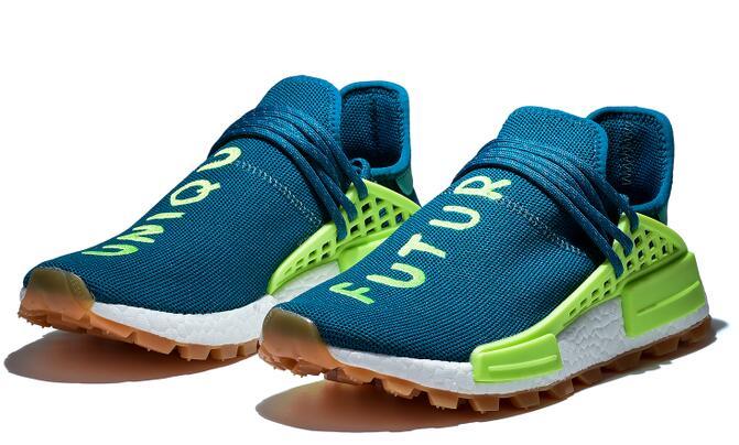2020 Human Race Pharrell Williams X BBC Running Shoes Infinite Species BBC Sun Glow Oreo Yellow Mens Women Sports Shoes